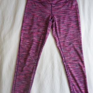 Pink Stripe Yoga Leggings